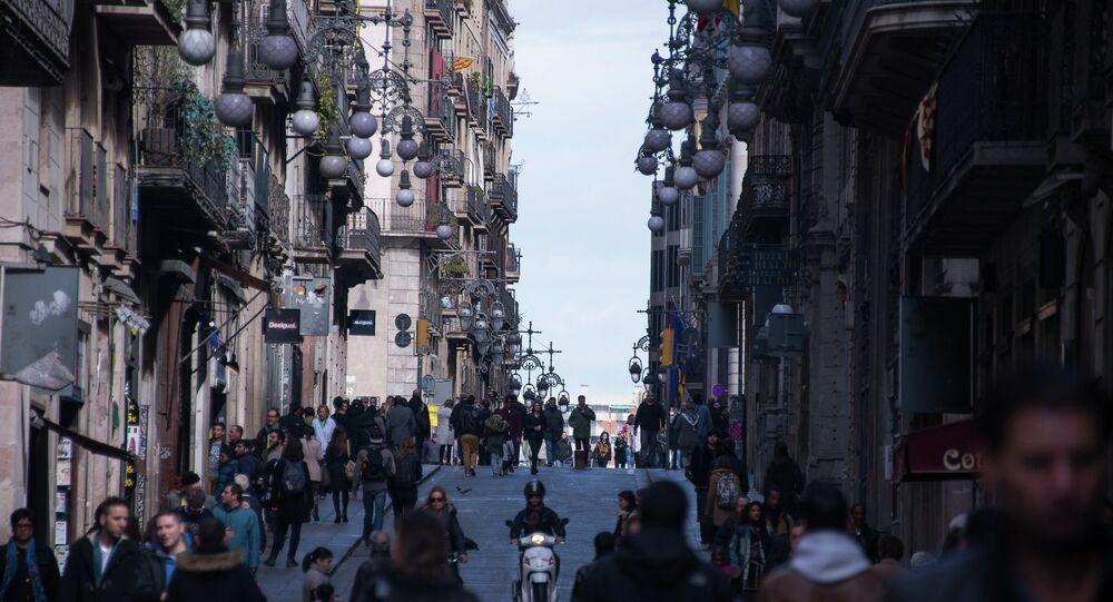 Gente en las calles de Barcelona