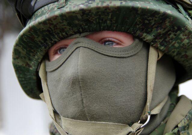 Soldado de infantería ruso (archivo)