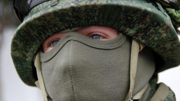 Soldado de infantería de Marina rusa - Sputnik Mundo