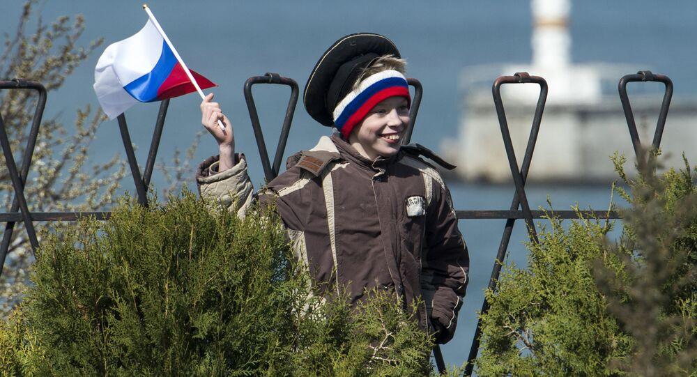 La celebración del aniversario de la reunificación de Crimea con Rusia en Sebastopol (2015)