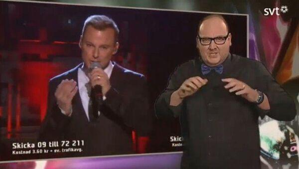 """Tommy Krangh, la estrella que """"cantó"""" en Eurovisión con el lenguaje de señas - Sputnik Mundo"""