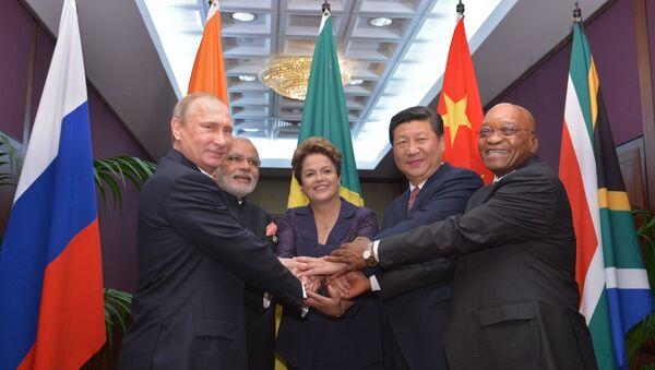 Líderes de los países miembros de BRICS - Sputnik Mundo