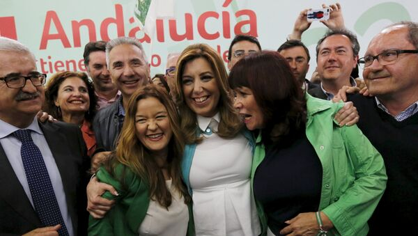 Andalusia's regional government president and Socialist candidate Susana Diaz - Sputnik Mundo