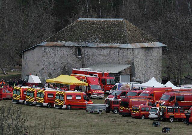 El lugar del accidente del Airbus A320
