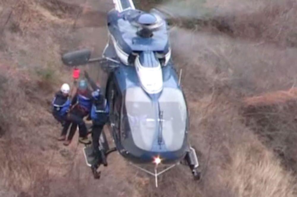 Operación de rescate en el lugar del siniestro del Airbus A320 en los Alpes