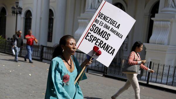 Maduro lanzó también la etiqueta #VenezuelaEsEsperanza para rechazar en las redes sociales las recientes medidas de EEUU contra Venezuela - Sputnik Mundo