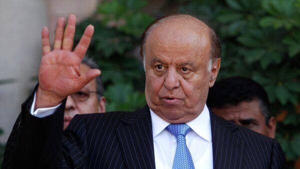 Yemen's President Abd-Rabbu Mansour Hadi gestures during a news conference in Sanaa in this November 19, 2012 file photograph. - Sputnik Mundo