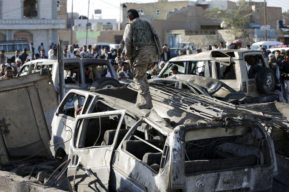 Saná, tras bombardeos