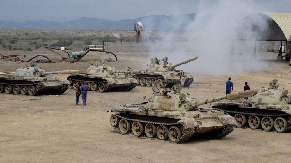 Equipos militares de tropas progubernamentales