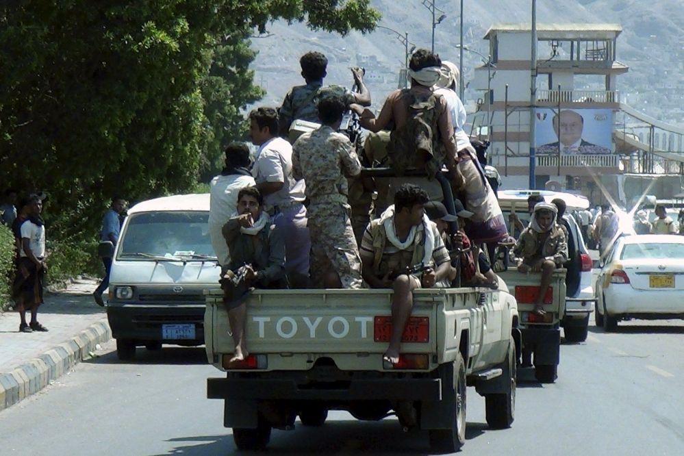 Una patrulla militar en Adén