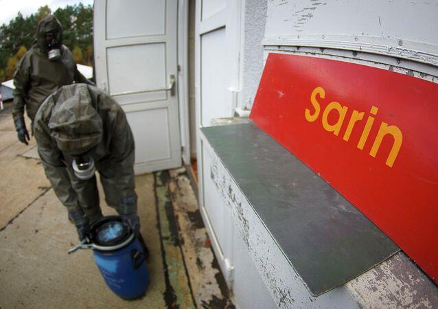 Sarín, arma química (archivo)