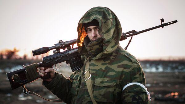 Un miliciano del este de Ucrania (archivo) - Sputnik Mundo