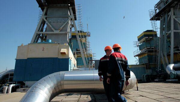 Estación de distribución de gas en Uzhgorod, Ucrania - Sputnik Mundo