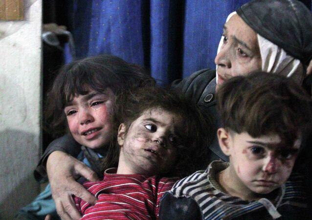Los niños afectados por el conflicto en Siria
