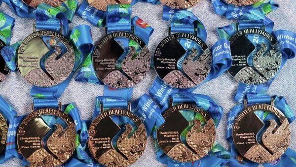 Medallas de los Juegos Olímpicos para sordos 2015 - Sputnik Mundo