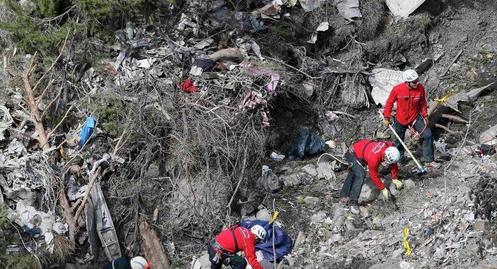 Lugar del accidente del Airbus A320 de la compañía Germanwings
