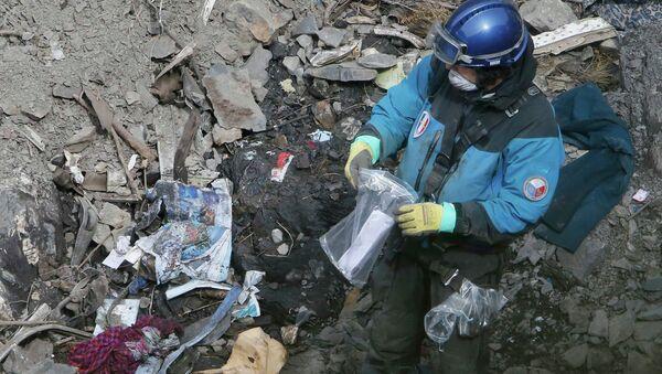 Restos del avión de Germanwings accidentado en los Alpes - Sputnik Mundo