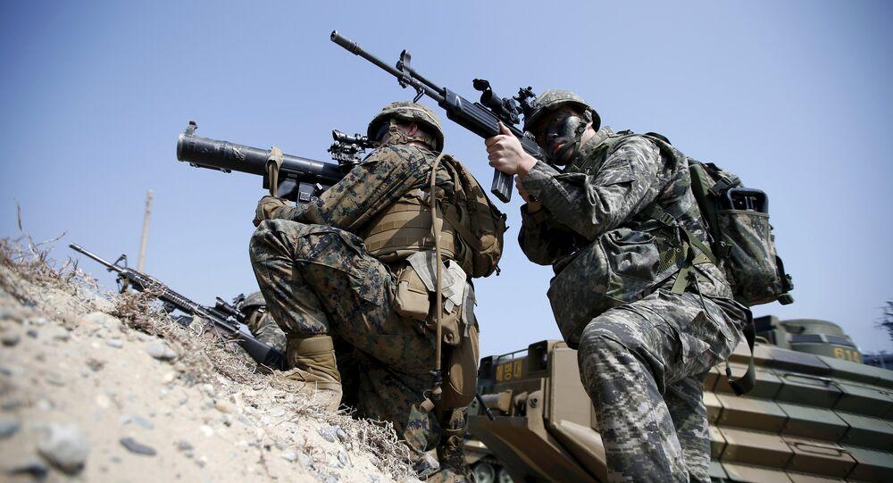 Maniobras militares conjuntas de EEUU y Corea del Sur (archivo)