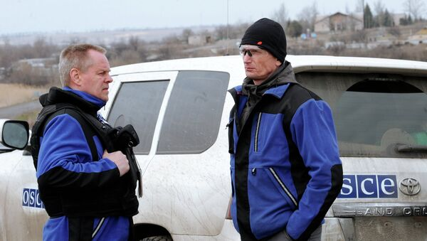 Representantes de la OSCE en Donbás - Sputnik Mundo