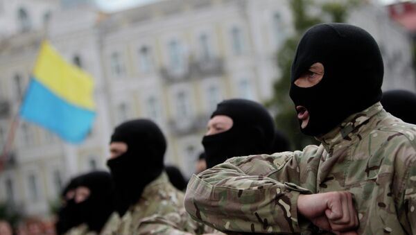 Efectivos del batallón Azov - Sputnik Mundo