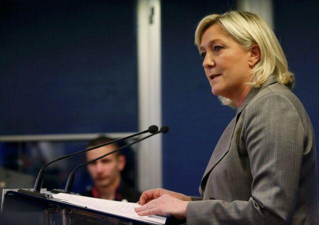 Marine Le Pen, diputada y presidenta del Frente Nacional