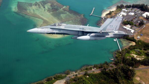 CF-18 Hornet de las Fuerzas Canadienses - Sputnik Mundo