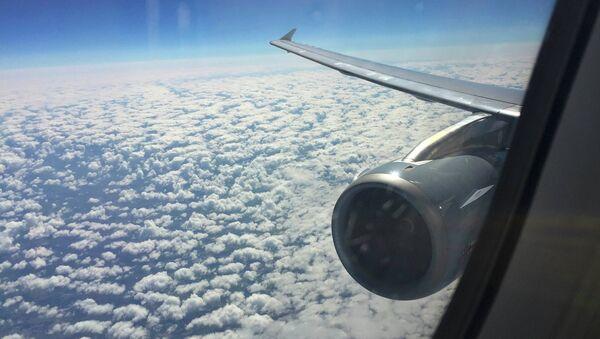 Vista por la ventana del Airbus A321 que operan vuelos de Germanwings - Sputnik Mundo
