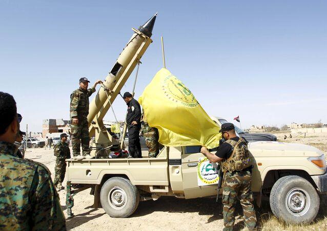 Milicias chiíes en Tikrit