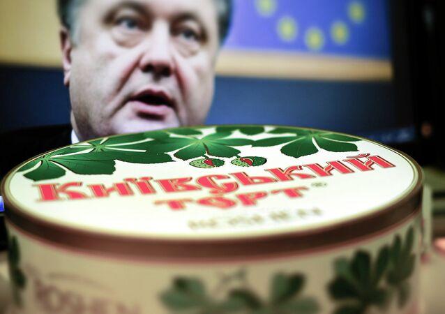 Tarta de Kiev de la fábrica de confitería Roshen