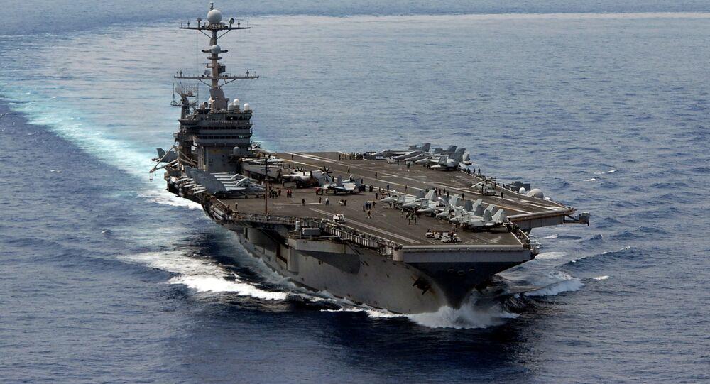 Portaaviones USS George Washington de la Flota del Pacífico de EEUU en el Mar del Sur de China