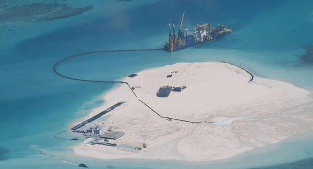 Islas de arena en el Mar del Sur de China