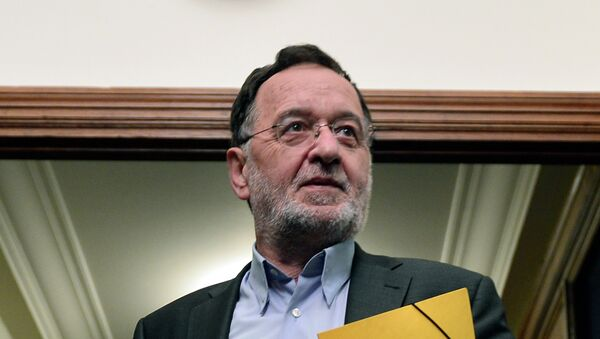 Panagiotis Lafazanis, ministro de Reconstrucción Productiva, Medio Ambiente y Energía de Grecia - Sputnik Mundo