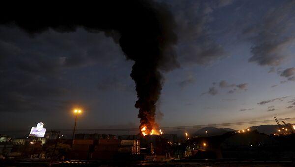 Incendio en Santos - Sputnik Mundo