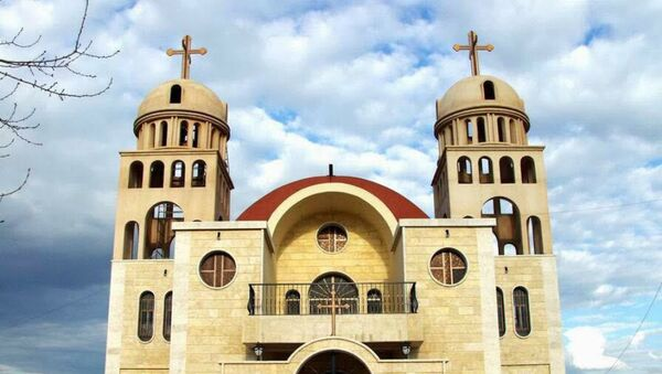 Assyrian church Saint Mary's in Tel Nasri in Khabour (Syria) attacked on Easter Sunday by ISIS - Sputnik Mundo