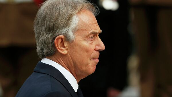 Former British Prime Minister Tony Blair arrives for the Afghanistan service of commemoration at St Paul's Cathedral in London March 13, 2015. - Sputnik Mundo