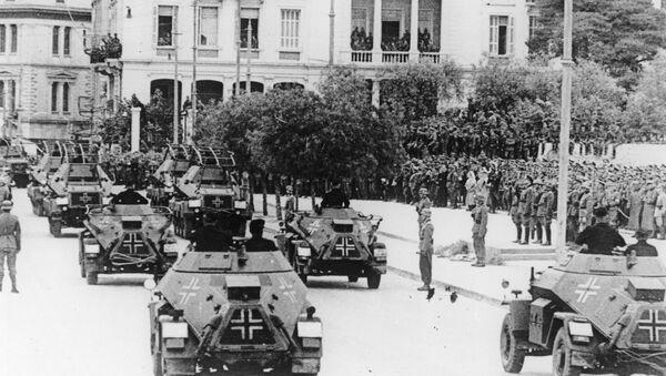 Soldados nazis en Grecia, 1941 - Sputnik Mundo