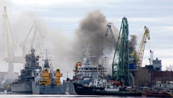 Incendio en el submarino ruso Oriol - Sputnik Mundo