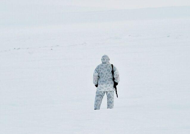 Soldado ruso en la Tierra de Francisco José