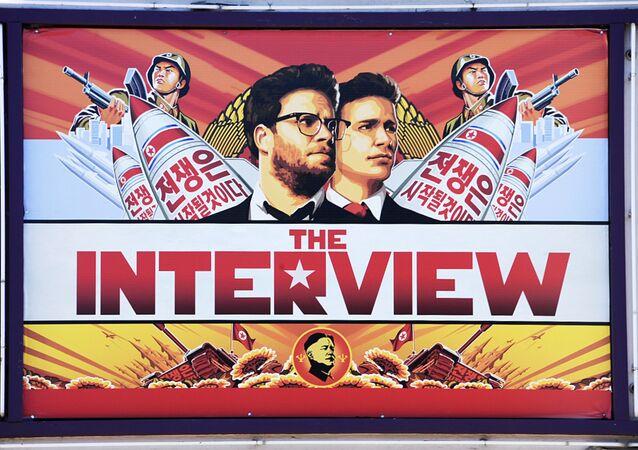 Un activista envía por globo a Corea del Norte miles de copias de la La entrevista