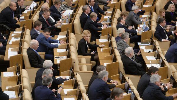 Пленарное заседание Госдумы РФ - Sputnik Mundo