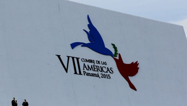 Logo de la Cumbre de las Américas en Panamá - Sputnik Mundo