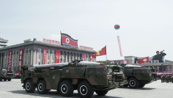 Sistema de misiles  KN-02 durante el desfile militar en Pyongyang (Archivo) - Sputnik Mundo
