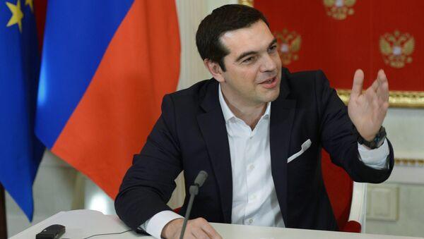 Alexis Tsipras, primer ministro de Grecia, durante su visite a Moscú - Sputnik Mundo
