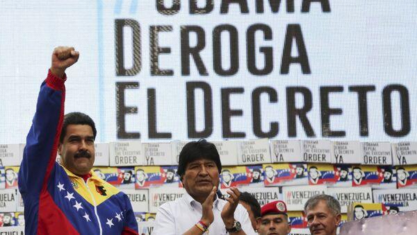 Presidente de Venezuela, Nicolás Maduro y presidente de Bolivia, Evo Morales - Sputnik Mundo