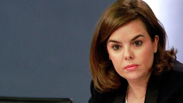 Soraya Sáenz de Santamaría, la vicepresidenta del Gobierno, ministra de la Presidencia y portavoz del Gobierno - Sputnik Mundo