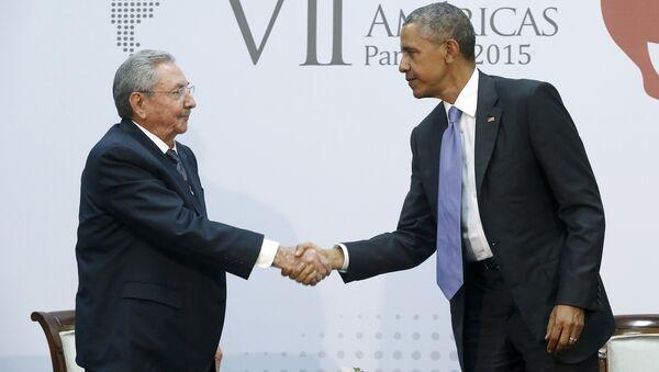 Raúl Castro, presidente de Cuba, y Barack Obama, presidente de EEUU - Sputnik Mundo