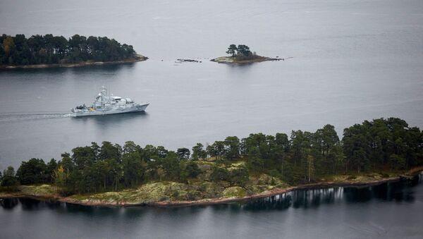 Dragaminas sueco HMS Koster patrulla las aguas del archipiélago de Estocolmo - Sputnik Mundo