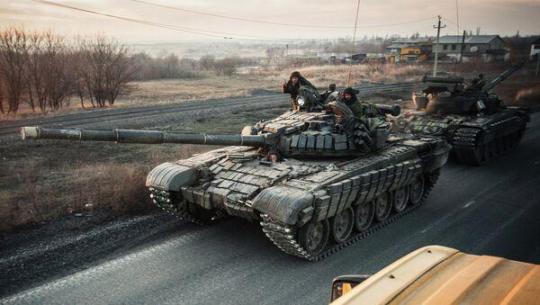 Tanque de milicianos de Donbás - Sputnik Mundo