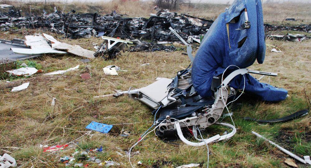 Restos del Boeing 777 derribado en el este de Ucrania (archivo)