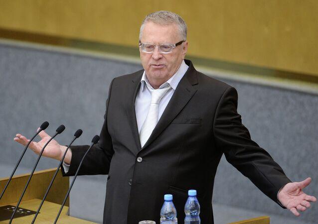Vladímir Zhirinovski, líder del partido liberal demócrata (LDPR)
